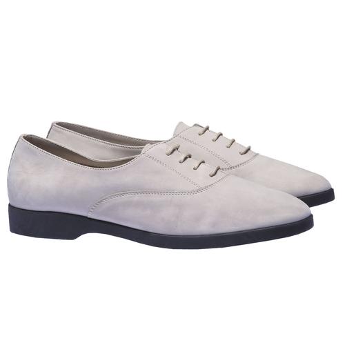 Scarpe basse di pelle flexible, grigio, 526-2156 - 26