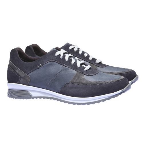 Sneakers di pelle bata, viola, 844-9435 - 26