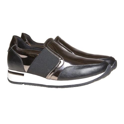 Sneakers da donna con riflessi metallici north-star, grigio, 541-2267 - 26