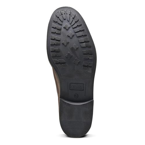 Scarpe di pelle alla caviglia bata, marrone, 894-4449 - 17