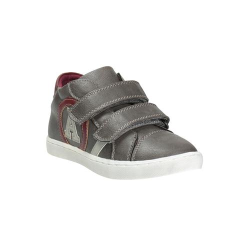 Sneakers da bambino con chiusure a velcro mini-b, grigio, 211-2152 - 13