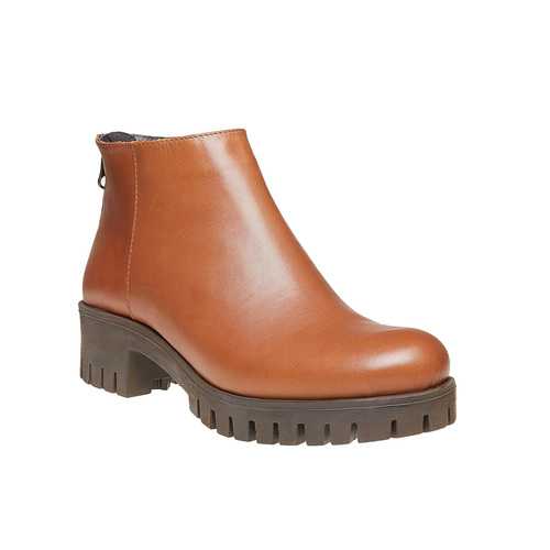 Scarpe in pelle alla caviglia con suola massiccia bata, marrone, 694-3158 - 13