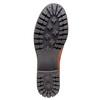 Scarpe in pelle alla caviglia con suola massiccia bata, marrone, 694-3158 - 26