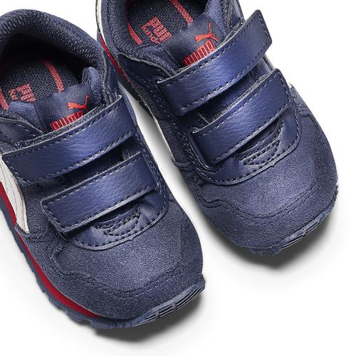 Sneakers di pelle da bambino puma, blu, 103-9182 - 19