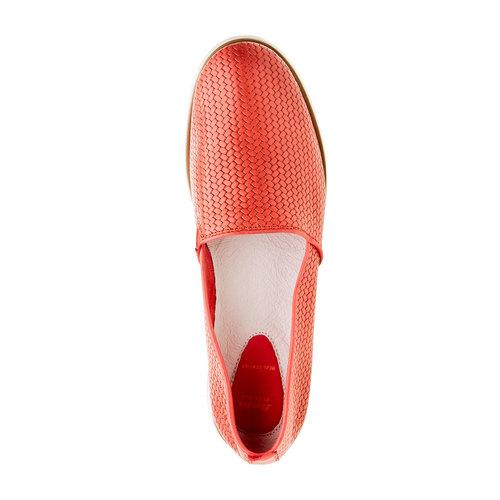Slip-on da donna con motivo intrecciato flexible, rosso, 515-5203 - 19