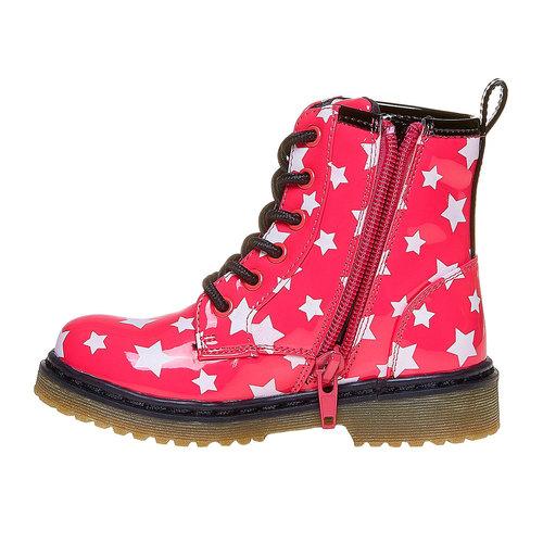 Scarpe da bambina sopra la caviglia con stelline mini-b, rosa, 291-5159 - 19