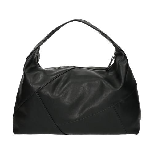 Borsetta in stile Hobo con applicazioni in metallo bata, nero, 961-6854 - 26