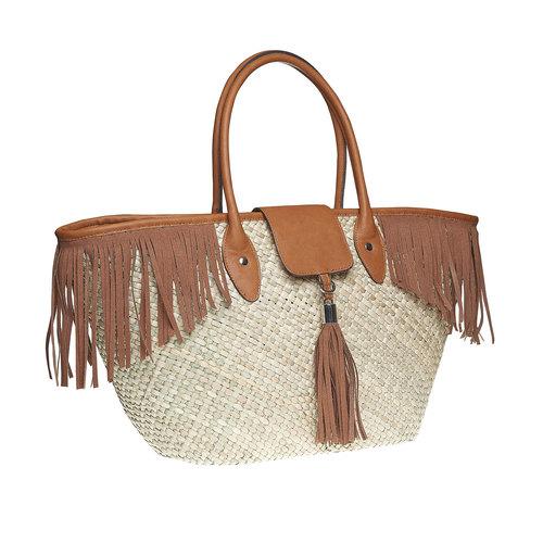 Borsetta Shopper con frange bata, marrone, 969-3449 - 13
