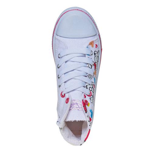 Sneakers da bambina alla caviglia violetta, bianco, 329-1179 - 19
