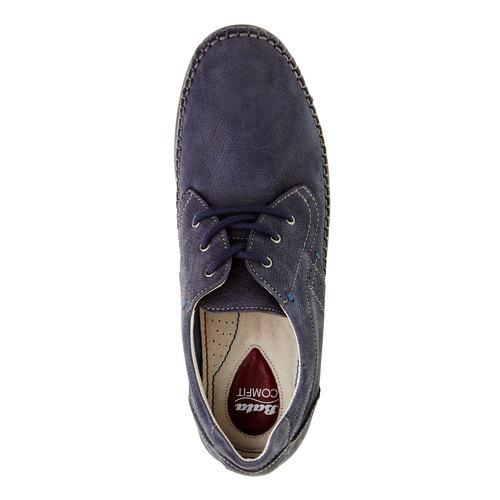 Scarpe basse informali di pelle bata-comfit, viola, 856-9183 - 19