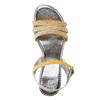 Sandali da ragazza con strass mini-b, giallo, 361-8175 - 19