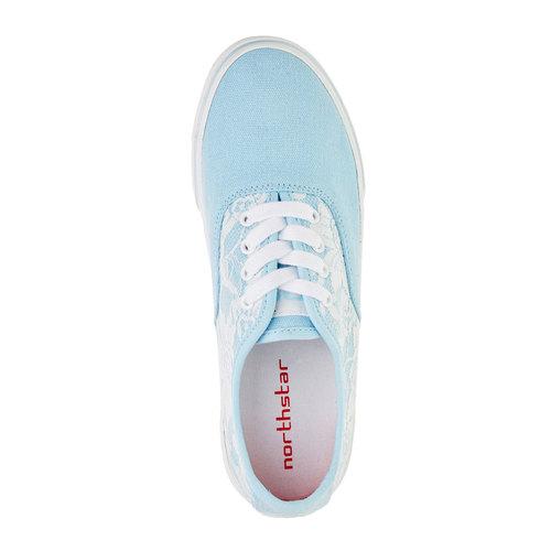 Sneakers con pizzo north-star, viola, 549-9222 - 19