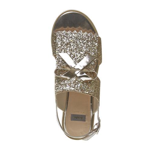 Sandali con glitter e flatform bata, oro, 569-8390 - 19