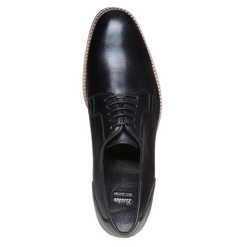 Scarpe basse da uomo in pelle in stile Derby bata, nero, 824-6280 - 19