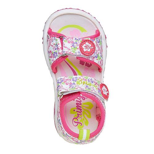 Sandali da ragazza con chiusura a velcro primigi, bianco, 261-0142 - 19