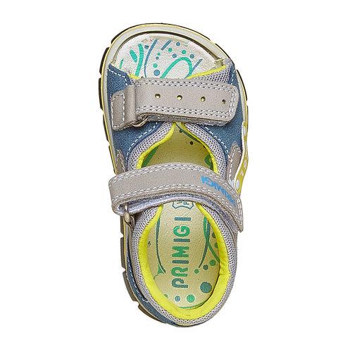 Sandali in pelle per bambino con velcro primigi, marrone, 166-3122 - 19