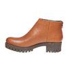 Scarpe in pelle alla caviglia con suola massiccia bata, marrone, 694-3158 - 19
