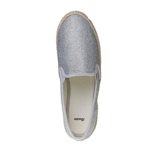 Slip-on argentate da donna bata, bianco, 559-1107 - 19