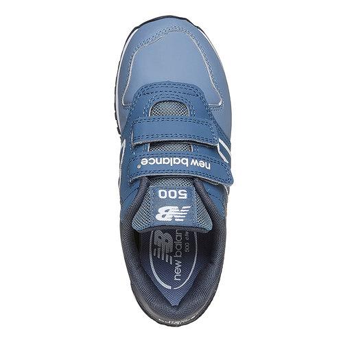 Sneakers da bambino con chiusure a velcro new-balance, blu, 301-9500 - 19
