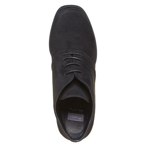 Scarpe basse da donna con tacco ampio bata, nero, 799-6430 - 19