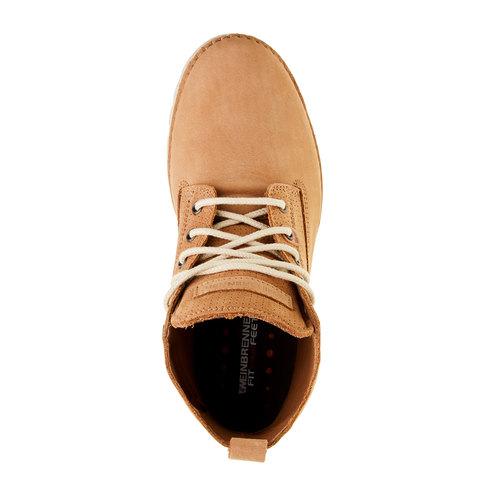 Scarpe di pelle alla caviglia weinbrenner, marrone, 594-3531 - 19