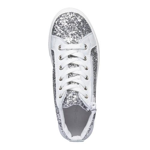 Sneakers alla caviglia con glitter north-star-junior, bianco, 329-1206 - 19