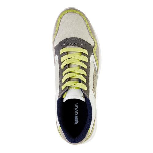 Sneakers da uomo in pelle gas, beige, giallo, 843-8606 - 19