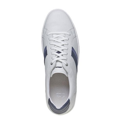 Sneakers bianche di pelle bata, bianco, 844-1639 - 19