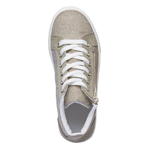Sneakers alla caviglia con riflessi metallici north-star-junior, marrone, 329-3195 - 19