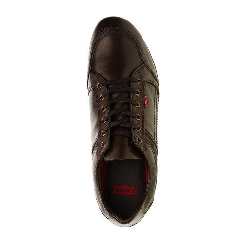 Sneakers informali di pelle levis, marrone, 844-4544 - 19