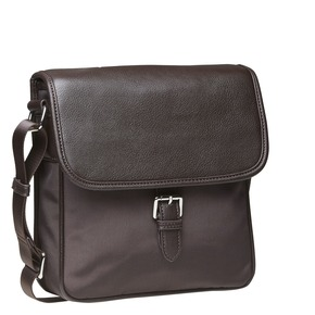 Borsa Crossbody da uomo con patta bata, marrone, 961-4776 - 13