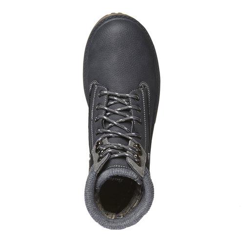 Scarpe alla caviglia con suola appariscente bata, grigio, 891-2438 - 19