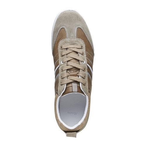 Sneakers informali da uomo bata, giallo, 841-8633 - 19