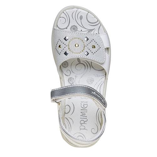 Sandali per bambina con velcro primigi, bianco, 261-1152 - 19