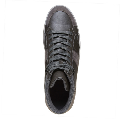Sneakers grigie sopra la caviglia bata, grigio, 841-2694 - 19