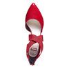 Décolleté rosse in pelle con cinturini sul collo del piede bata, rosso, 724-5369 - 19