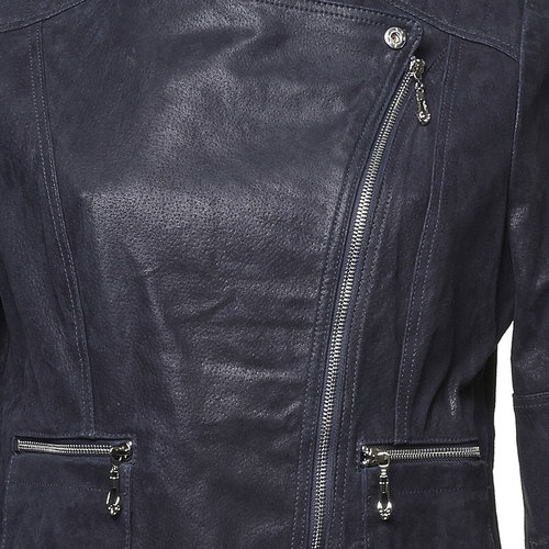 Giacca di pelle Perfecto bata, blu, 973-9106 - 16