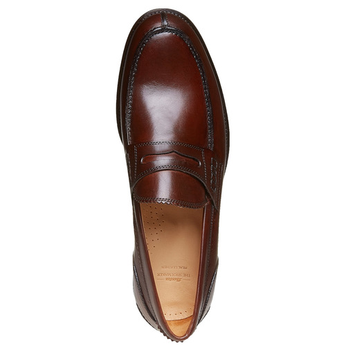 Penny Loafer di pelle da uomo bata-the-shoemaker, marrone, 814-4160 - 19