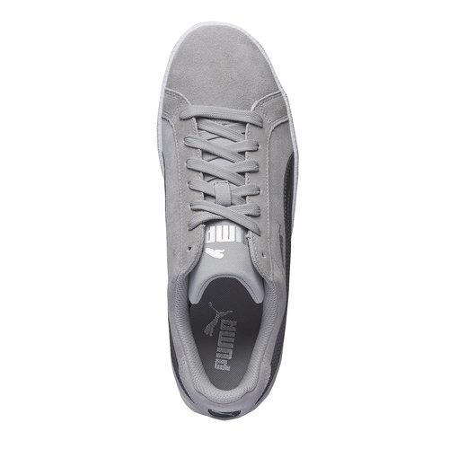 Sneakers in pelle da uomo puma, grigio, 803-2312 - 19