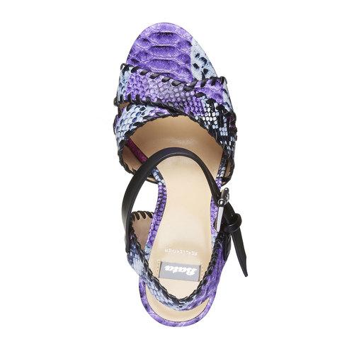 Sandali da donna con plateau e cinturino bata, viola, 761-9527 - 19