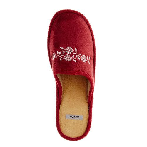 Pantofole da donna bata, rosso, 579-5233 - 19