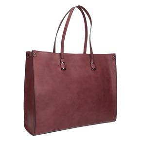 Borsetta da donna in stile Shopping bata, rosso, 961-0736 - 13