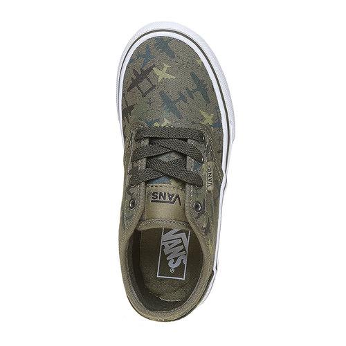 Sneakers informali da bambino vans, verde, 409-2234 - 19