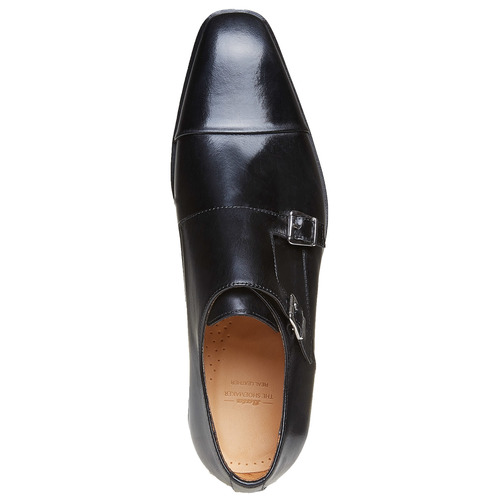 Scarpe basse di pelle in stile Monk bata-the-shoemaker, nero, 814-6159 - 19