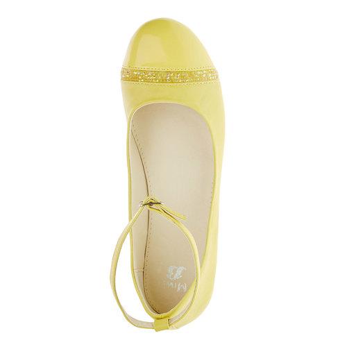 Ballerine gialle con cinturino mini-b, giallo, 321-8181 - 19