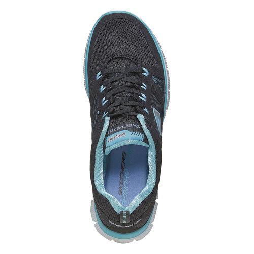 Sneakers sportive da donna skechers, nero, 509-6556 - 19