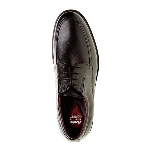 Scarpe basse da uomo in pelle bata-comfit, nero, 824-6933 - 19