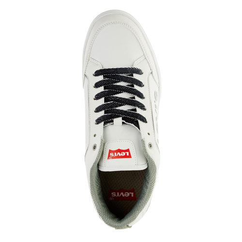 Sneakers da uomo con lacci in denim levis, bianco, 841-1551 - 19