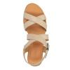Sandali di pelle con tacco a zeppa sundrops, giallo, 564-8400 - 19