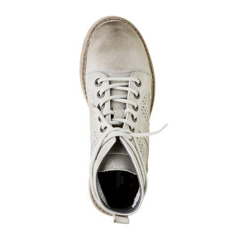 scarponcino di pelle alla caviglia weinbrenner, grigio, 594-2138 - 19